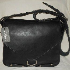 Vtg Studded Strap Messenger Sling Cross Body Bag